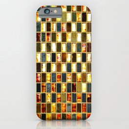 Black Gold Copper Tile iPhone Case