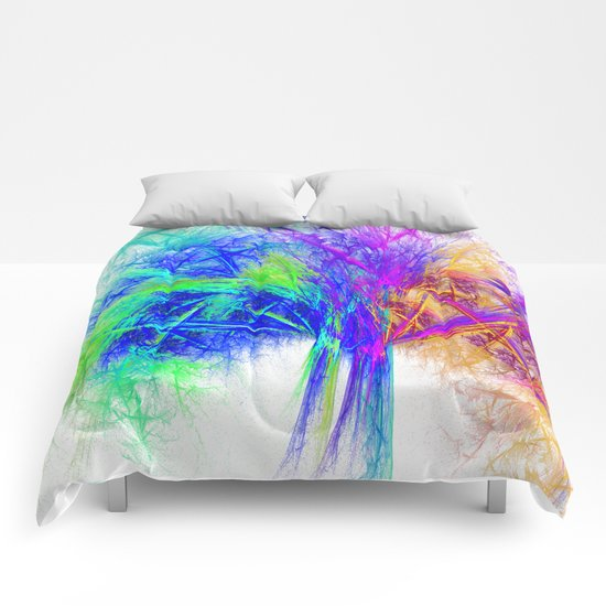 Colorful tree Comforters