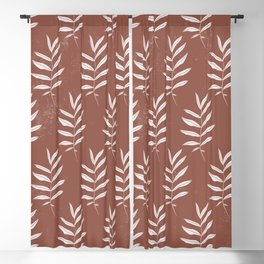 Abstract Leave Pattern Blackout Curtain
