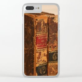 Antique Books 2 Clear iPhone Case