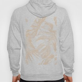 Island Vacation Hibiscus Palm Light Mango Hoody