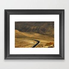 El valle del Jordán Framed Art Print