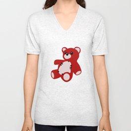 TEDDY BEAR TOY  Unisex V-Neck