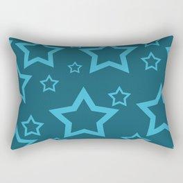Stars turquoise color design Rectangular Pillow