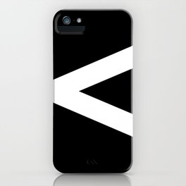 Less-Than Sign (White & Black) iPhone Case