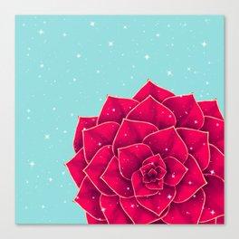Big Holidays Christmas Red Echeveria Design Canvas Print