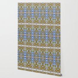 goldleaf on blue Wallpaper