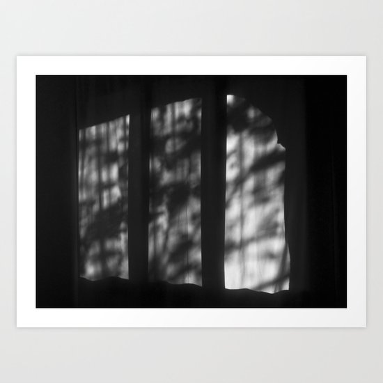 There's a light at Casa Milà. Barcelona Art Print