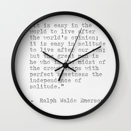Ralph Waldo Emerson philosophy Quote Wall Clock