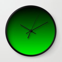 Black and Lime Gradient Wall Clock
