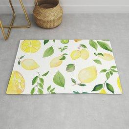Watercolor Lemons Rug