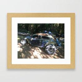 Custom car Rat Rod Framed Art Print