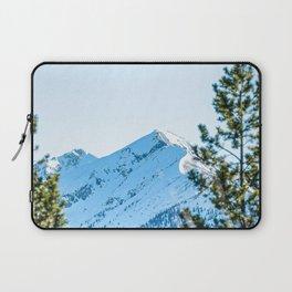 Through the Trees // Snowy High Mountain Pass Alpine Adventure Crisp Blue Sky Laptop Sleeve