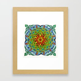 Fire Renewal Mandala Celtic Knot Mandala Art Framed Art Print