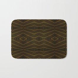 Futuristic Geometric Design Bath Mat