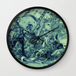 Portuguese history tile art Wall Clock