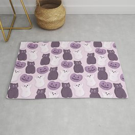 Halloween Marshmallows Soft Purple Rug