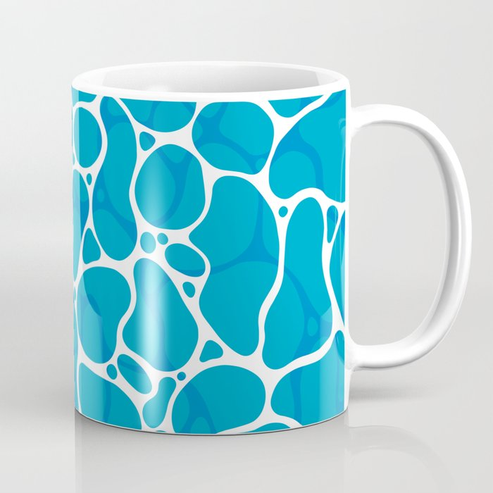 The Great Sea: Graphic Ocean Water Pattern Coffee Mug