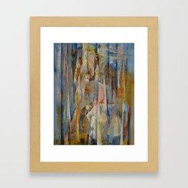 Wild Horses Abstract Framed Art Print
