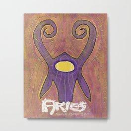 Aries the Ram Poster Metal Print