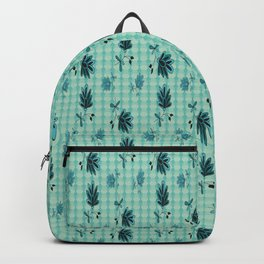 country blue flowers pattern Backpack
