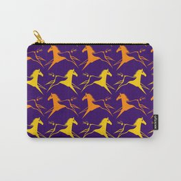 Horse Nation Purple Gold Carry-All Pouch