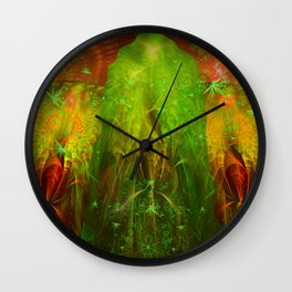 Fractal Angels VI Wall Clock