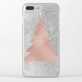 Industrial rose christmas - tree Clear iPhone Case