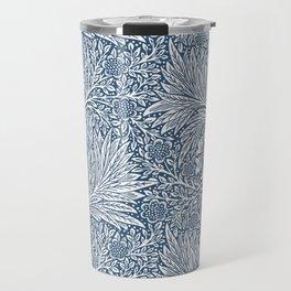 William Morris Navy Blue Botanical Pattern 3 Travel Mug