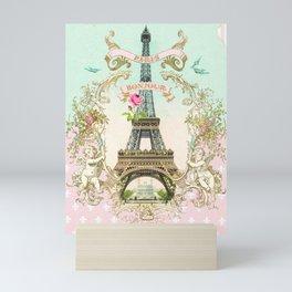 Bonjour Paris Mini Art Print