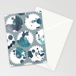 Saw blades Stationery Cards