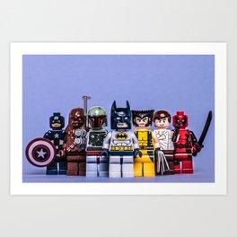 Lego Awesomeness Art Print