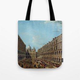 Antonio Francesco Lodovico Joli Procession in the Courtyard of the Ducal Palace, Venice Tote Bag