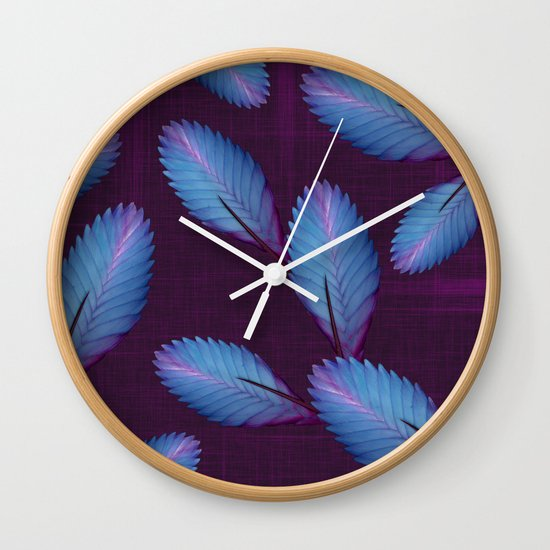 Tillandsia in dark purple Wall Clock