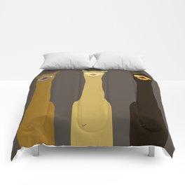 Triple LLAMAS ALPACAS CAMELS - Dark Comforters