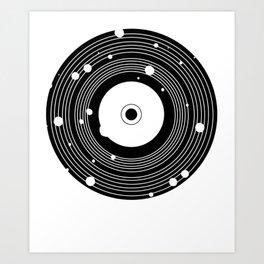 Retro Vinyl T-Shirt Bullet Holes Vintage Records Art Print
