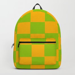 Lime Green & Golden Yellow Chex 2 Backpack