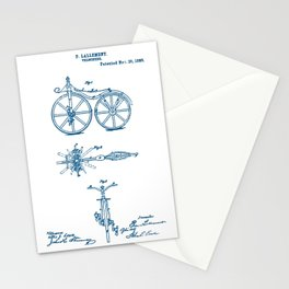 Bicycle Velocipede 1866 Patent Stationery Cards