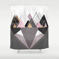 nordic Shower Curtains featuring Nordic Wilderness by Elisabeth Fredriksson