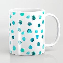 Minimal Abstract Dots Blue Coffee Mug