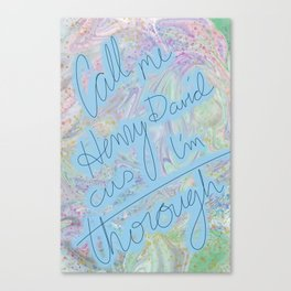 Theroux Canvas Print