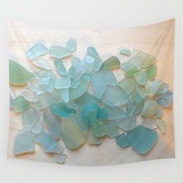 Ocean Hue Sea Glass Wall Tapestry