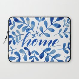 Watercolor home foliage - blue Laptop Sleeve
