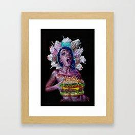 Boob-burger Framed Art Print