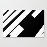 stripe Canvas Prints featuring stripe by noirblanc777