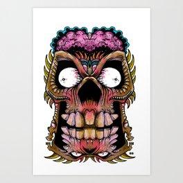 tiki creepy Art Print
