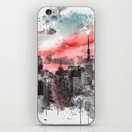 Sao Paulo - WaterColor 002B iPhone Skin