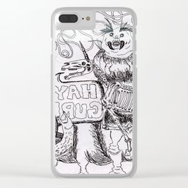doodle Clear iPhone Case