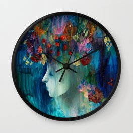 Blooming garden. Wall Clock