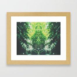 Monstera mirror Framed Art Print